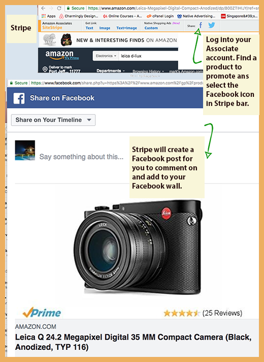 Inserting Amazon Affiliate Products on Facebook