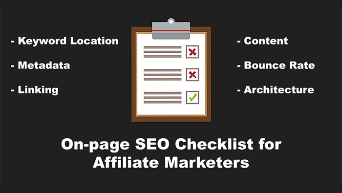 affiliate seo onpage checklist