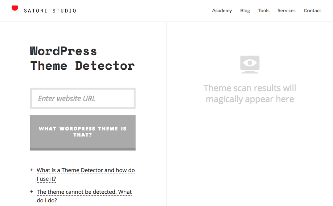 Satori Theme Detector