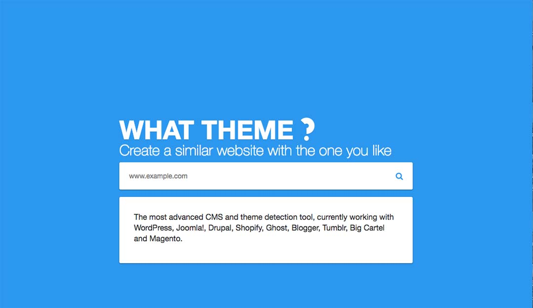 what Theme detector
