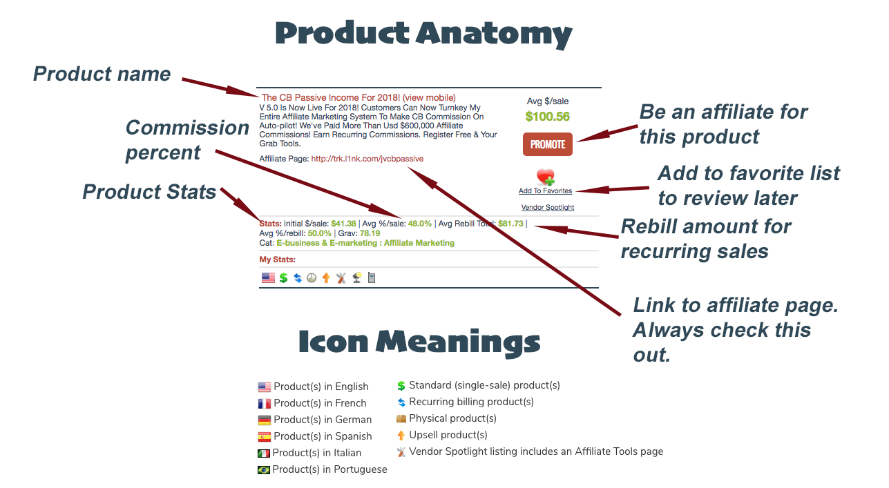 product anatomy