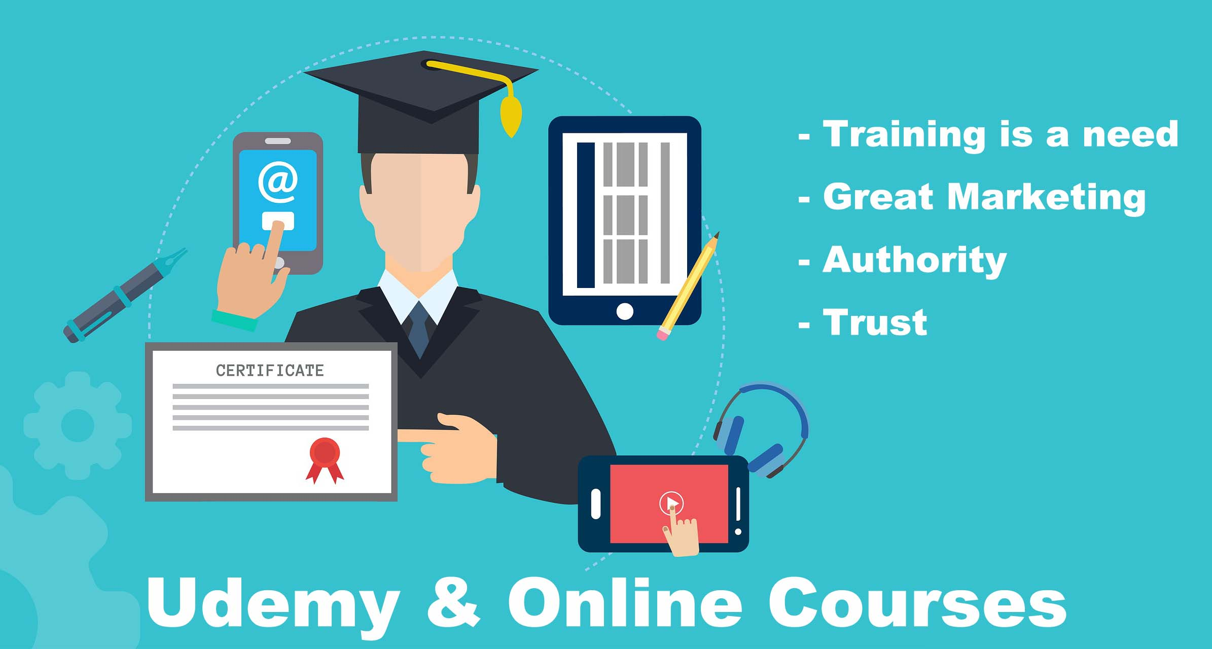 udemy and course wear business