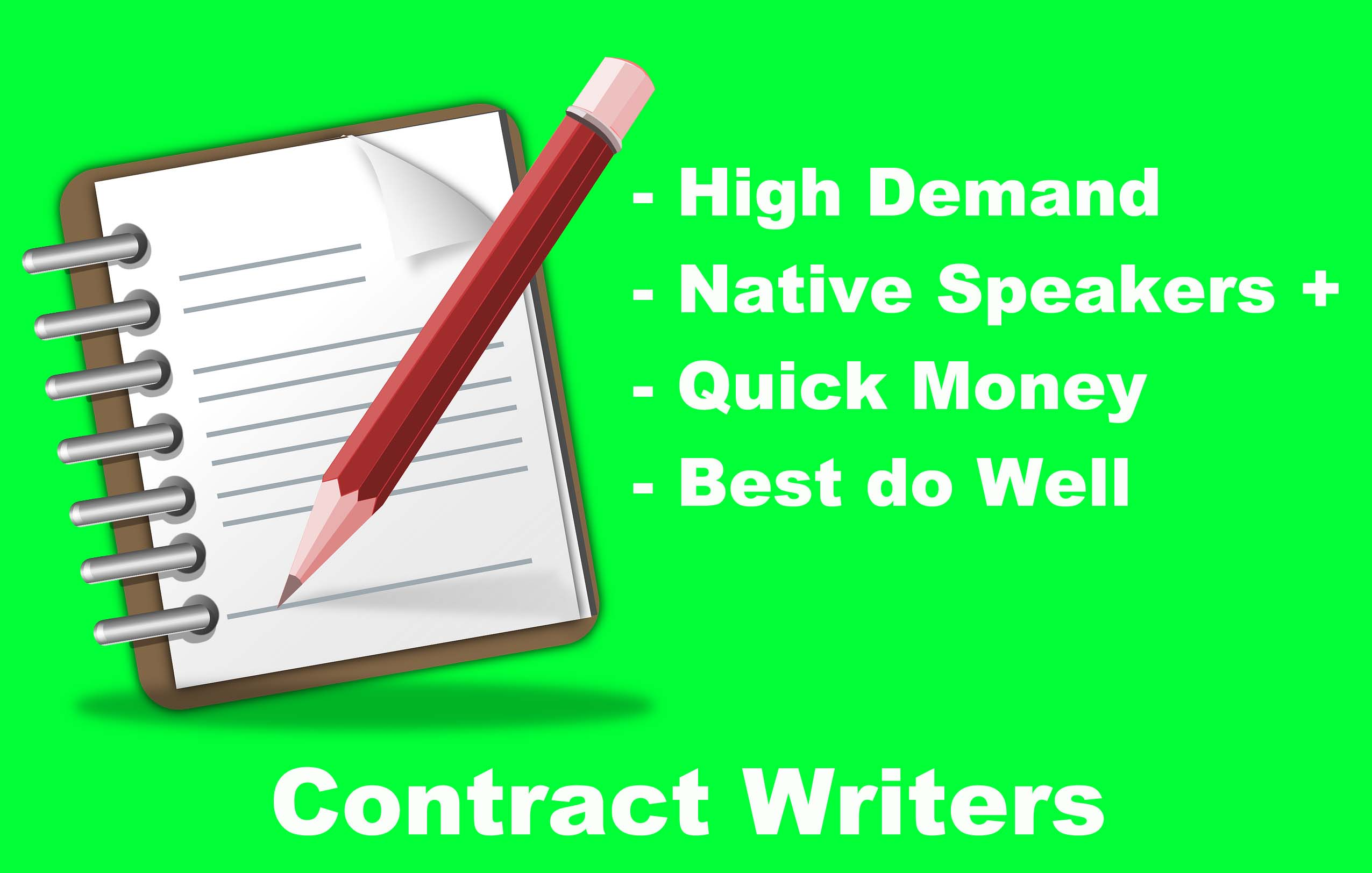 contract writing jobs