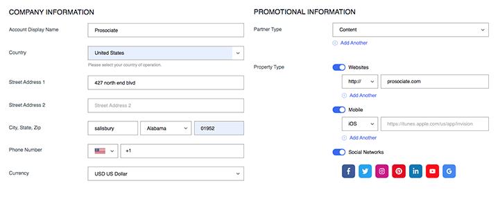 ebay partner network sign up form