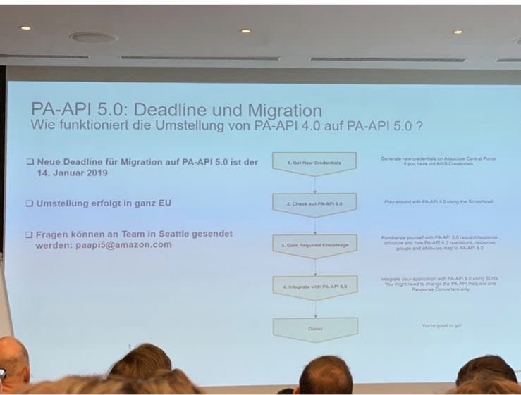 Amazon upgrade to PA API 5 postponed