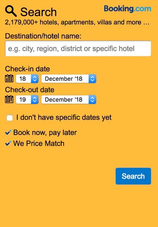 booking widget