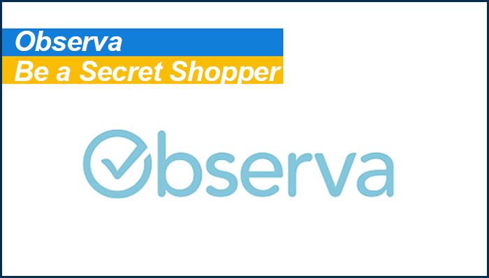 observa secret shopper side gig