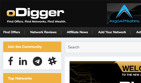odigger affiliate search