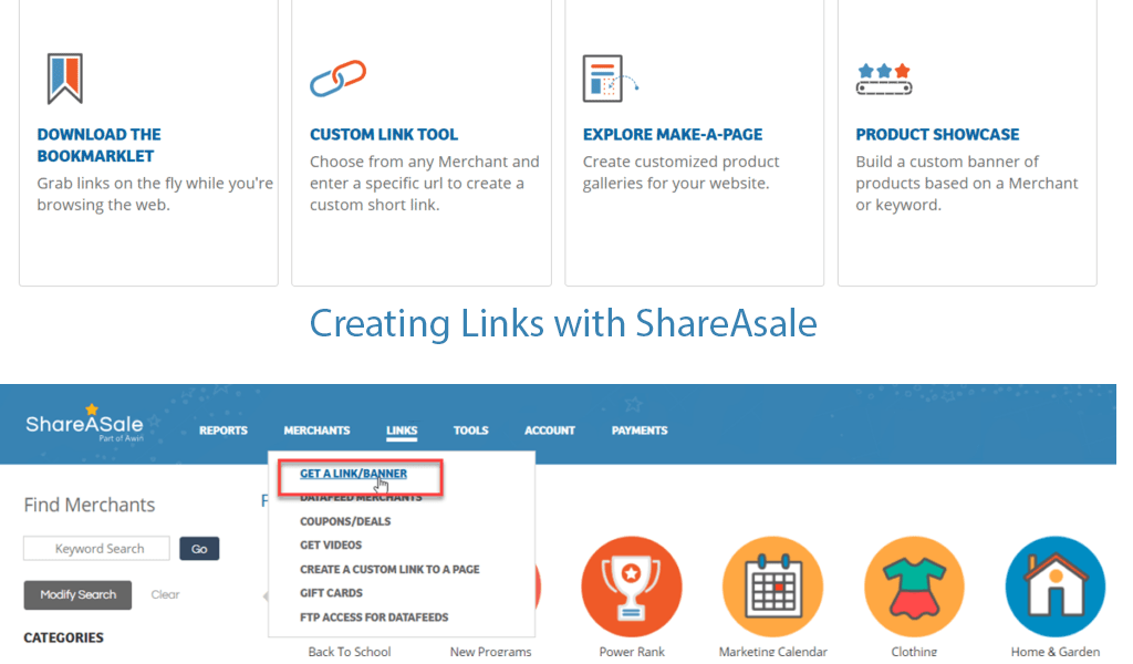 ShareASale Linking